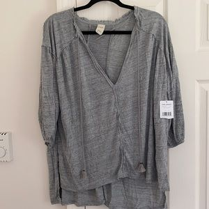 NWT We the Free Just a Henley Oversized top